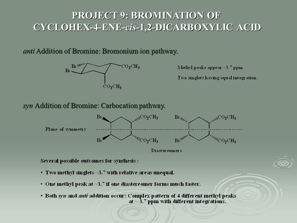 PROJECT 9: BROMINATION OF CYCLOHEX-4-ENE-cis-1,2-DICARBOXYLIC ACID