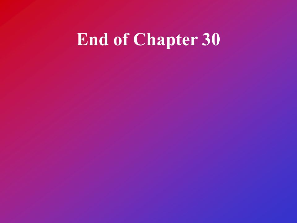 End of Chapter 30