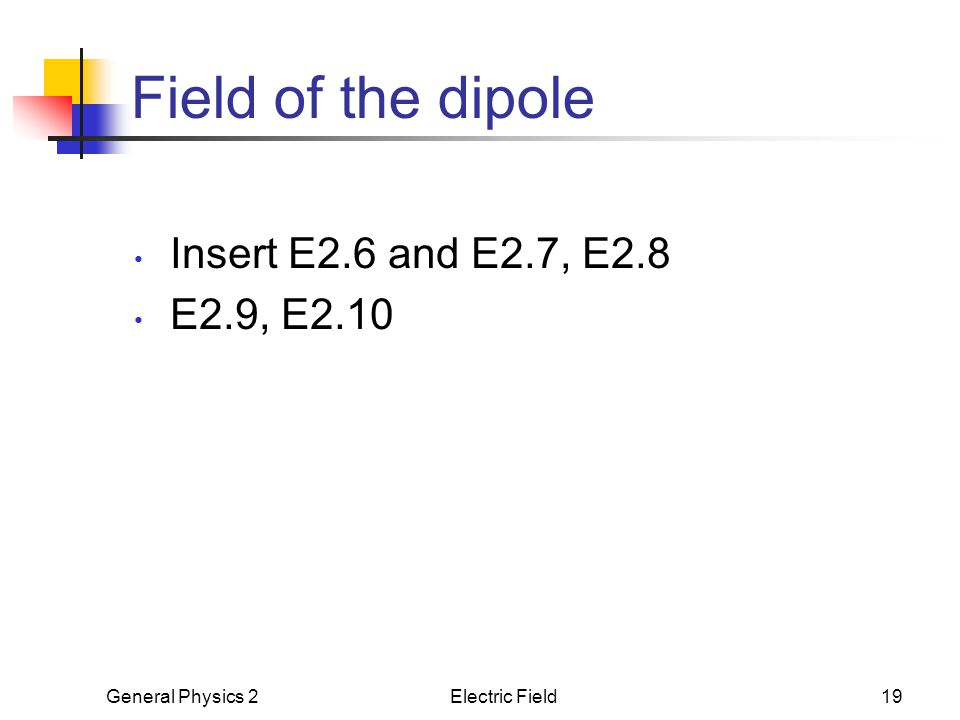 Field of the dipole Insert E2.6 and E2.7, E2.8 E2.9, E2.10