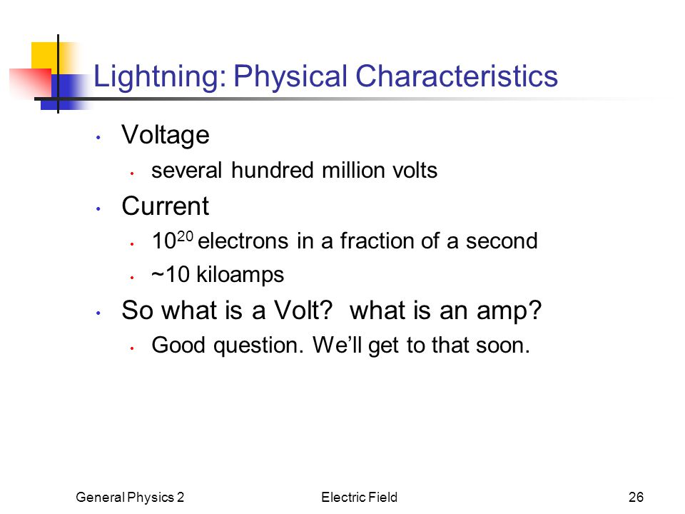 Lightning: Physical Characteristics