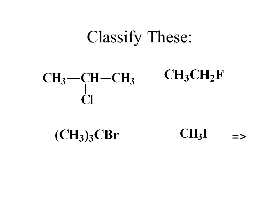 Classify These: =>