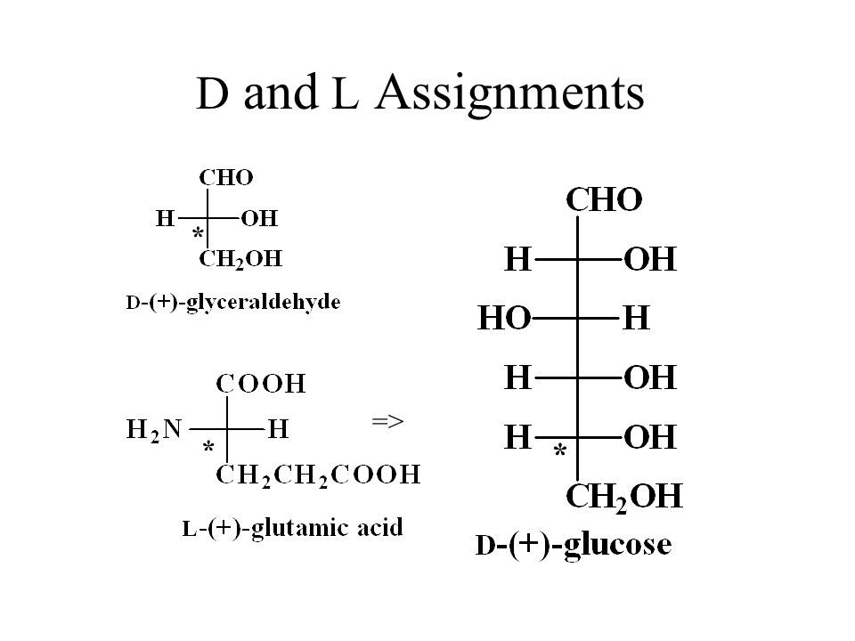 D and L Assignments * * * =>