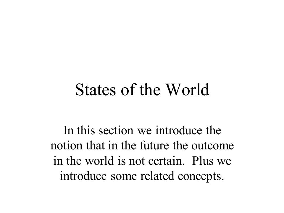 States of the World
