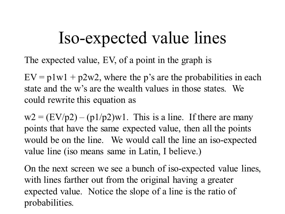 Iso-expected value lines