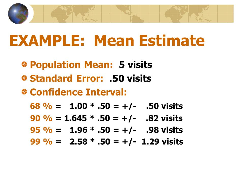 EXAMPLE: Mean Estimate