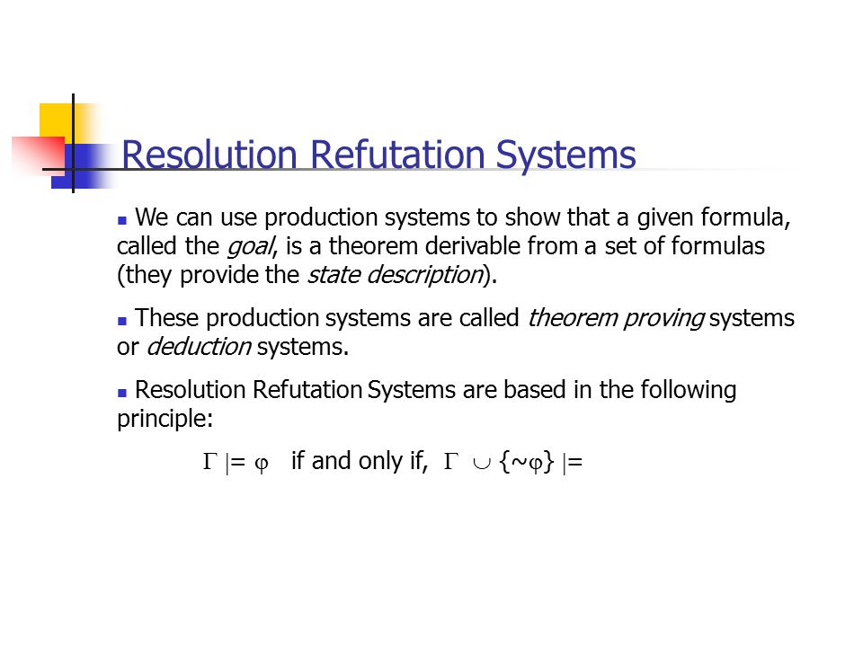 Resolution Refutation Systems