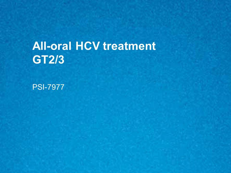 All-oral HCV treatment GT2/3