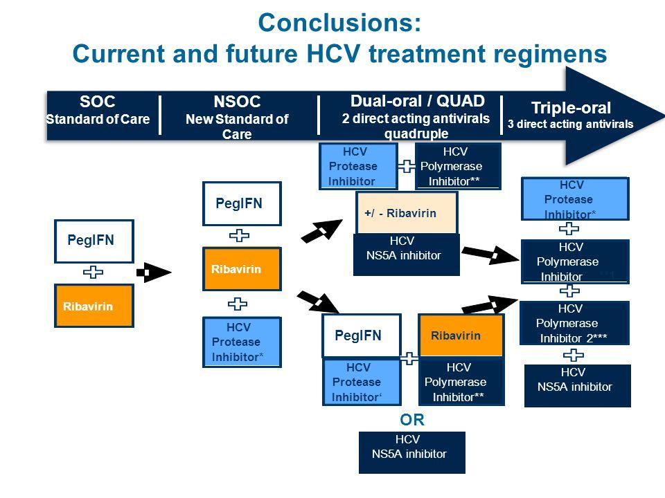 Conclusions: Current and future HCV treatment regimens