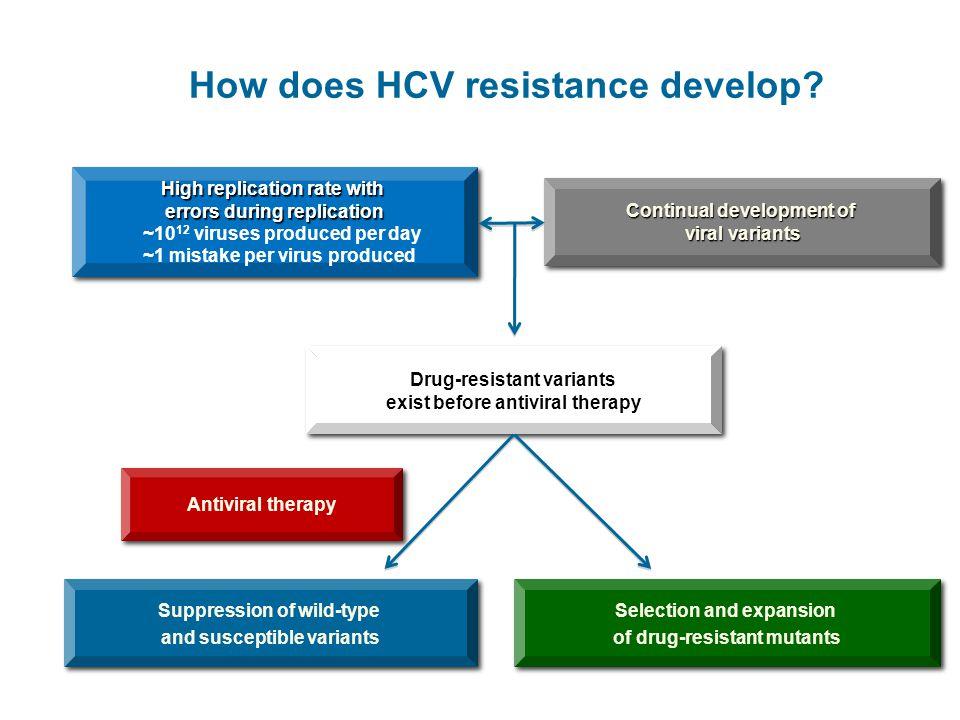How does HCV resistance develop