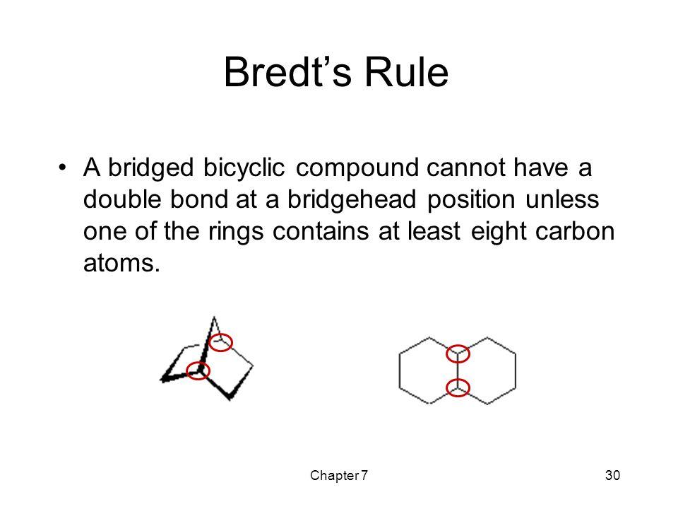 Bredt's Rule