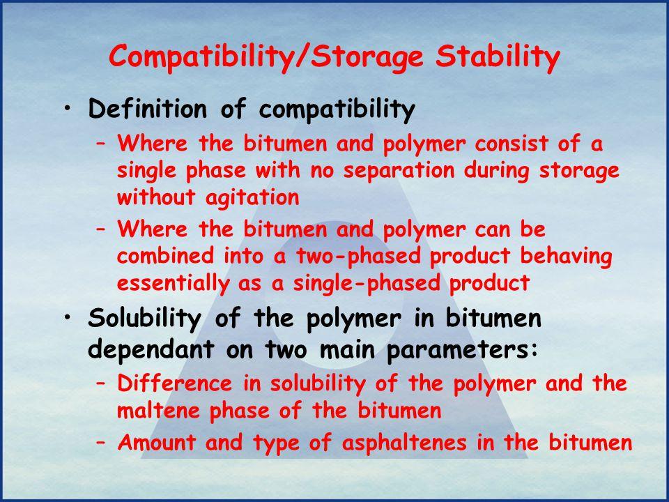 Compatibility/Storage Stability