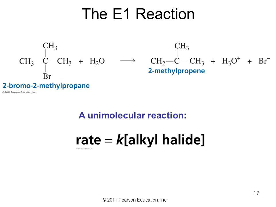The E1 Reaction A unimolecular reaction: