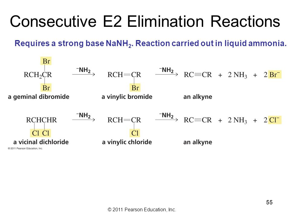 Consecutive E2 Elimination Reactions