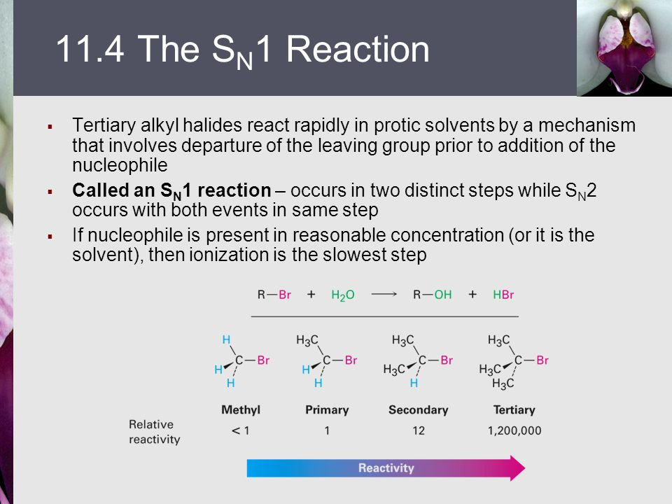 11.4 The SN1 Reaction