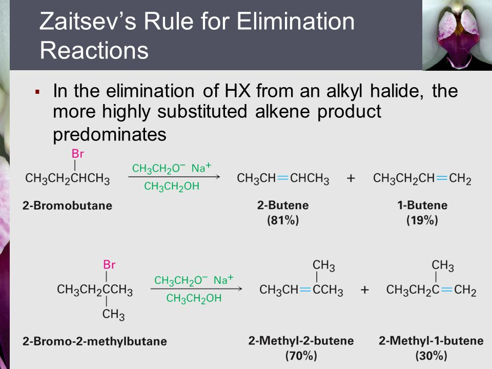 Zaitsev's Rule for Elimination Reactions