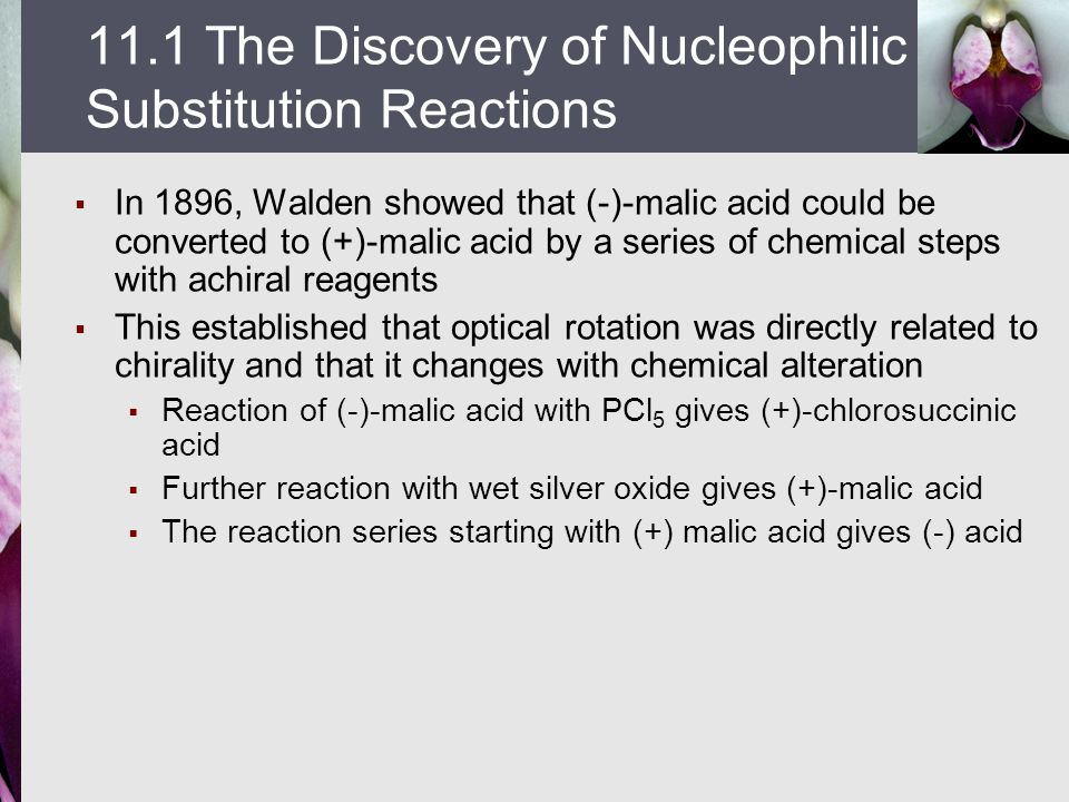 11.1 The Discovery of Nucleophilic Substitution Reactions