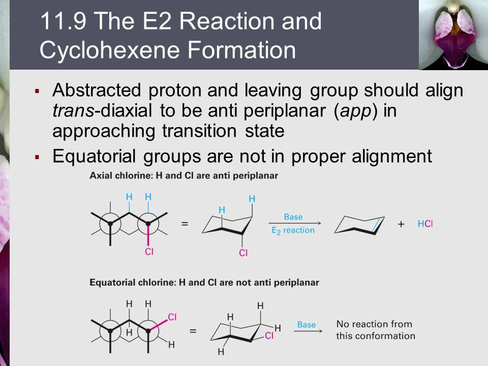11.9 The E2 Reaction and Cyclohexene Formation
