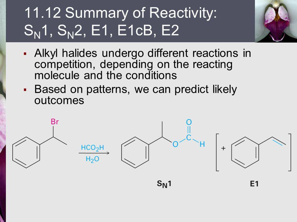 11.12 Summary of Reactivity: SN1, SN2, E1, E1cB, E2