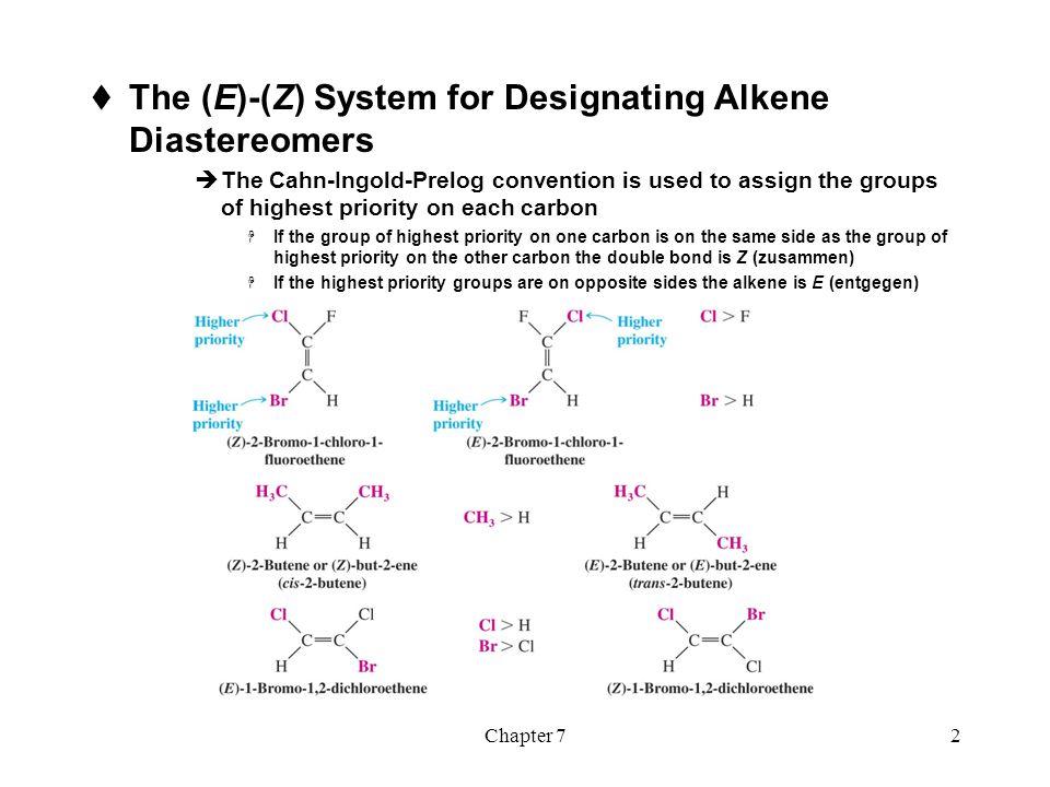 The (E)-(Z) System for Designating Alkene Diastereomers
