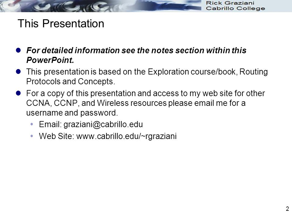 This Presentation For detailed information see the notes section within this PowerPoint.