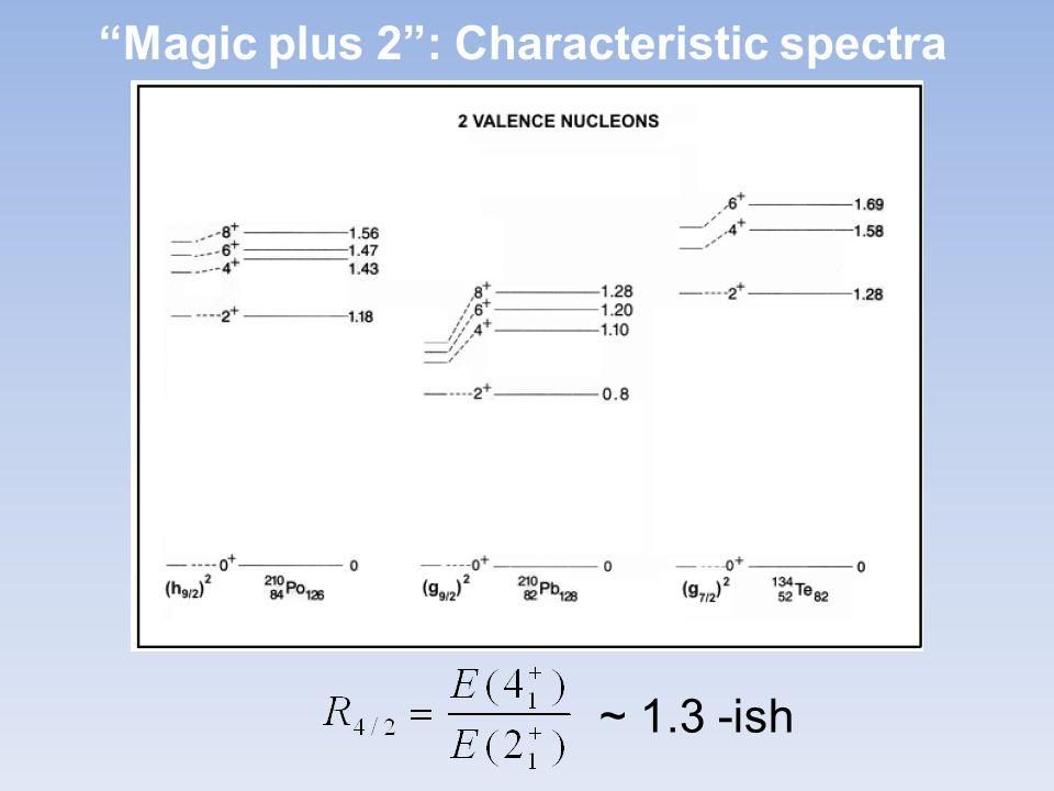 Magic plus 2 : Characteristic spectra