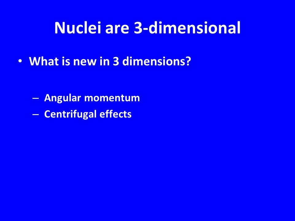Nuclei are 3-dimensional