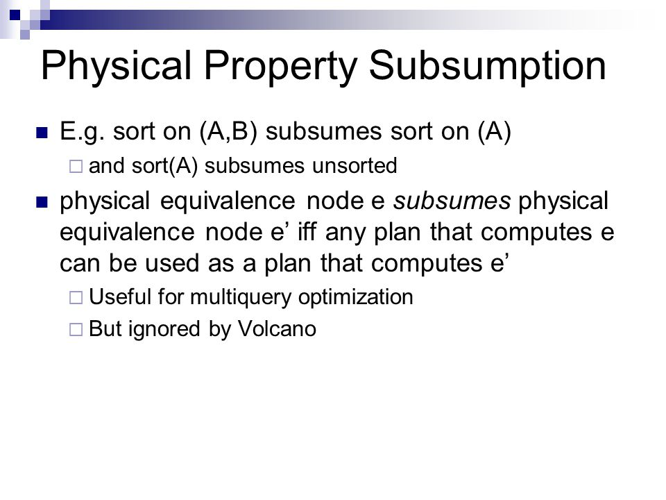 Physical Property Subsumption