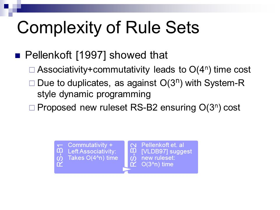Complexity of Rule Sets
