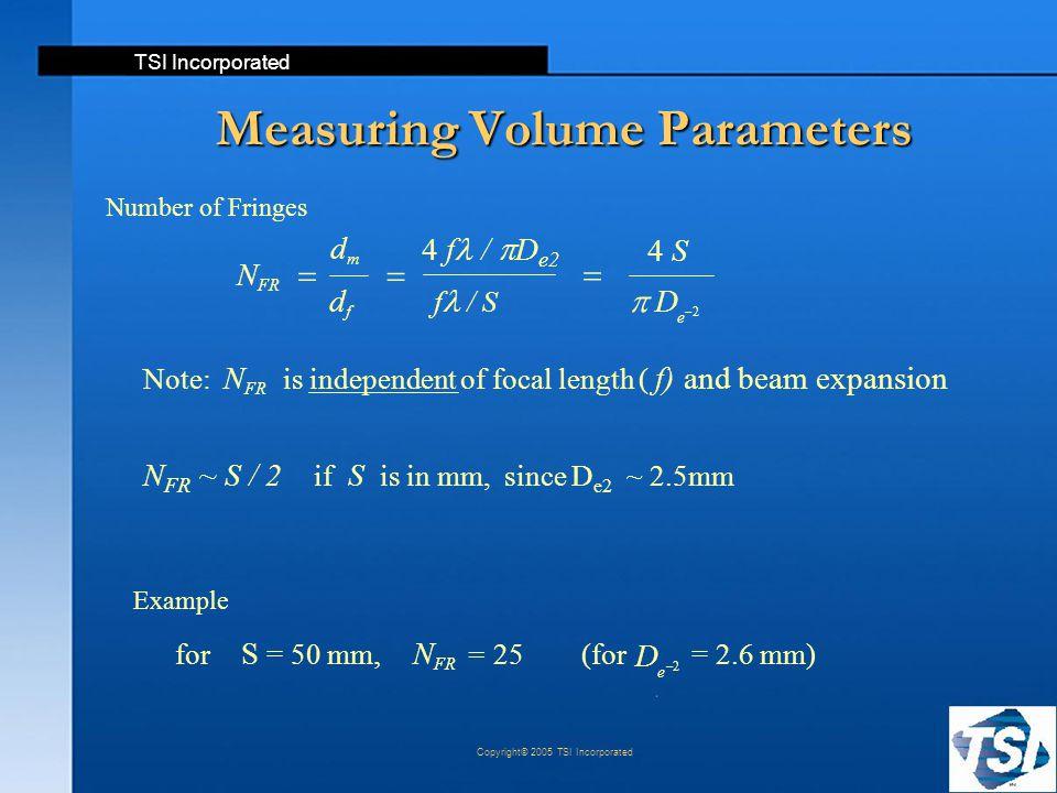 Measuring Volume Parameters