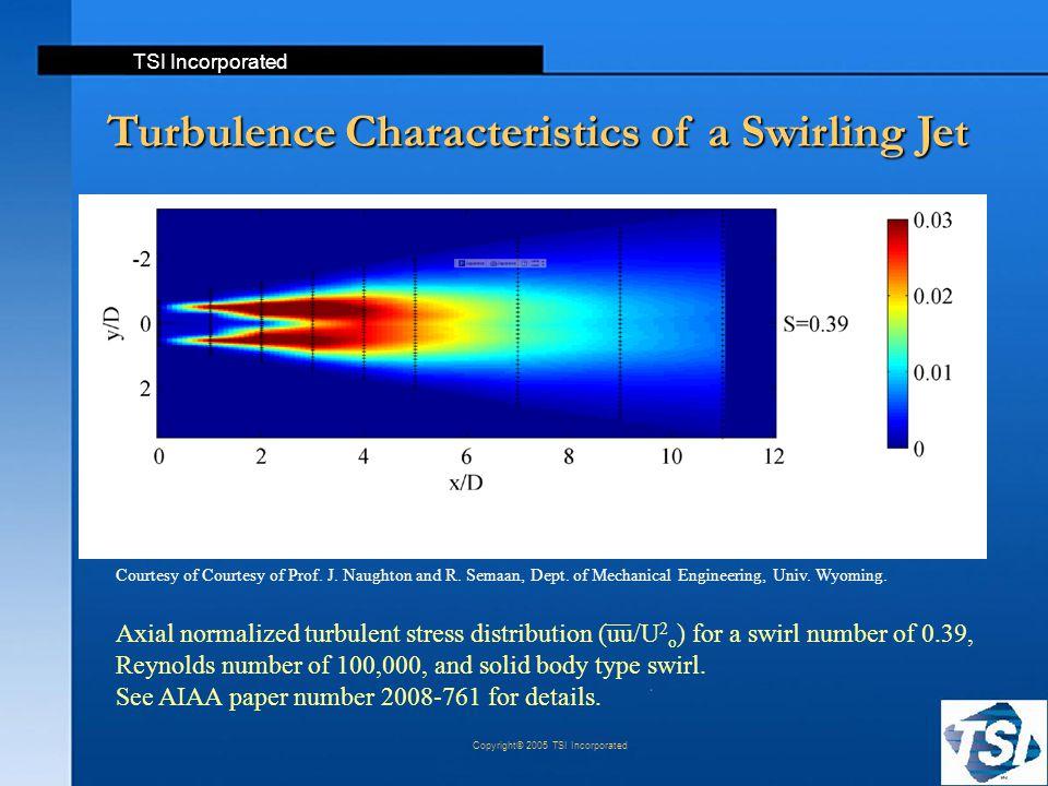 Turbulence Characteristics of a Swirling Jet