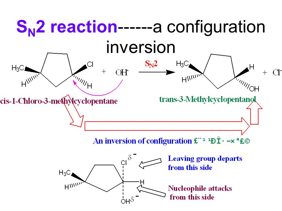 SN2 reaction------a configuration inversion