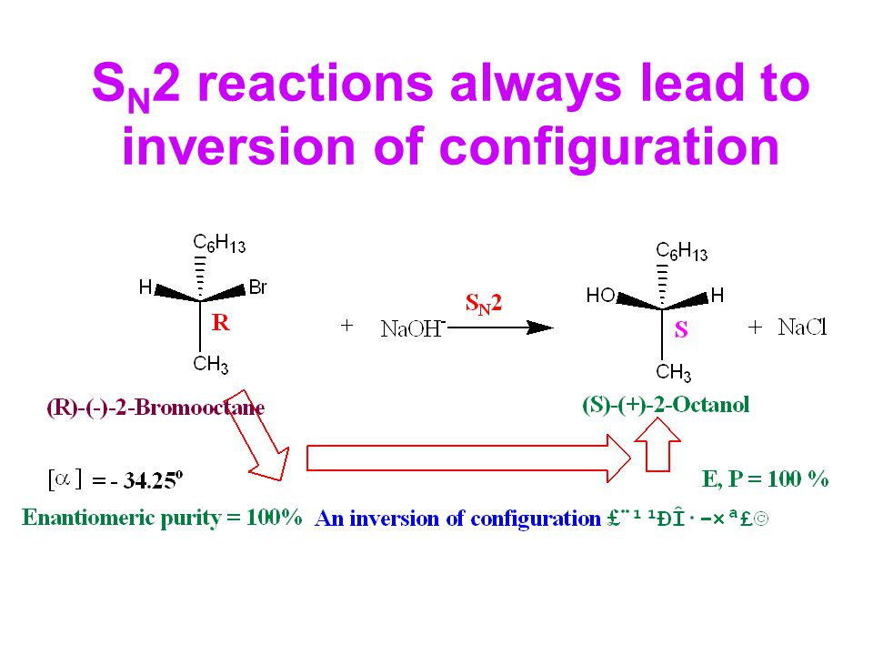 SN2 reactions always lead to inversion of configuration