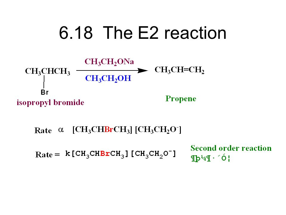 6.18 The E2 reaction
