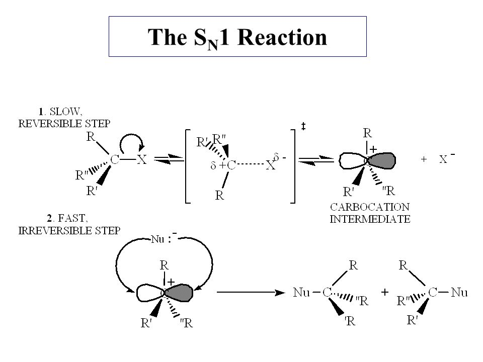 kinetics of an sn1 reaction essay In our discussion of chemical kinetics we described two alternative reaction   aliphatic substitution reactions, then the sn1 mechanism is certainly the mr hyde -.