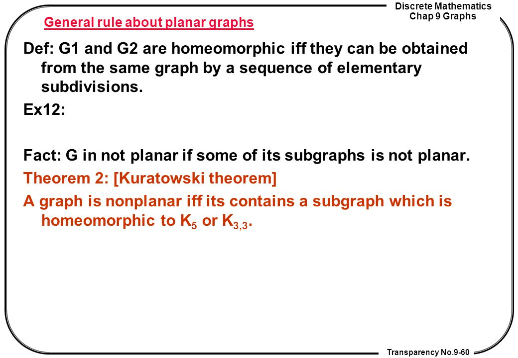 General rule about planar graphs