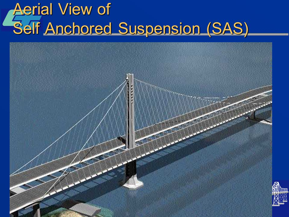 Aerial View of Self Anchored Suspension (SAS)