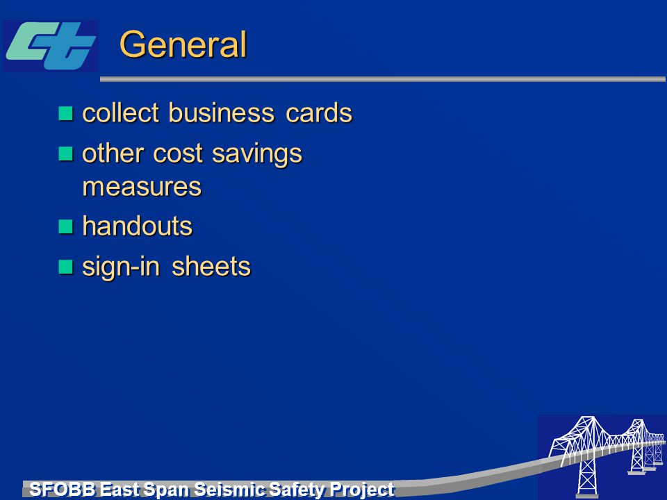 General collect business cards other cost savings measures handouts