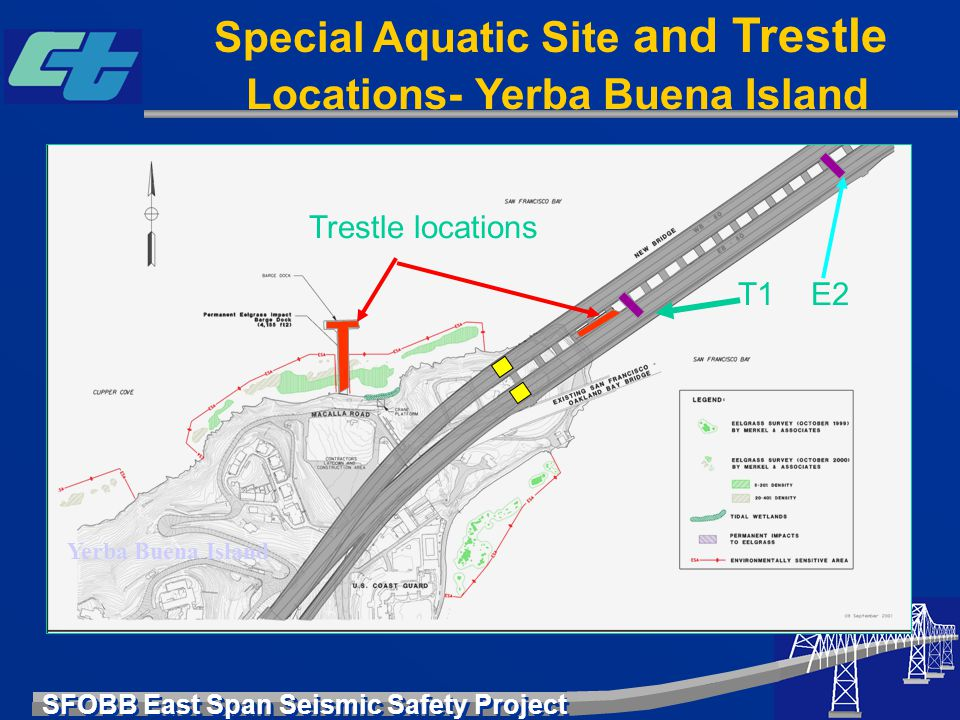 Special Aquatic Site and Trestle Locations- Yerba Buena Island