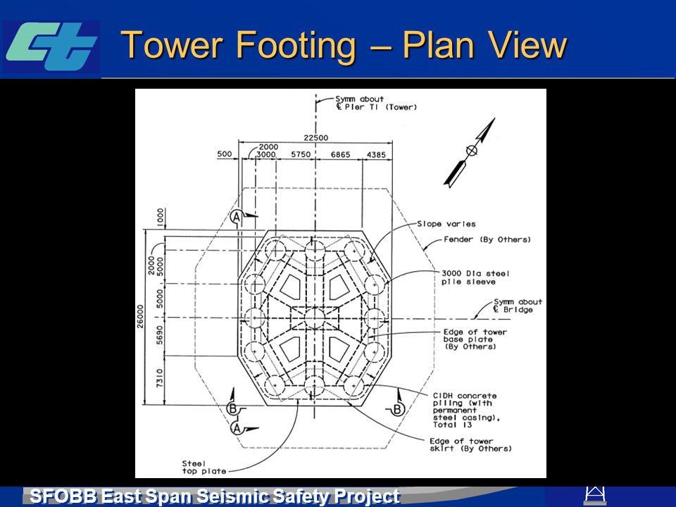 Tower Footing – Plan View