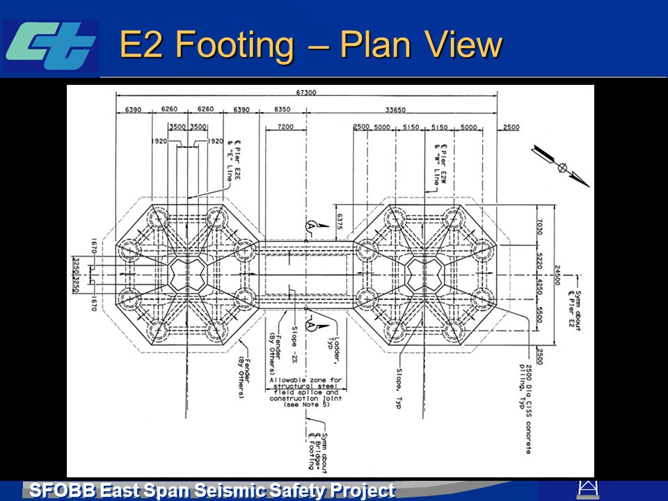 E2 Footing – Plan View