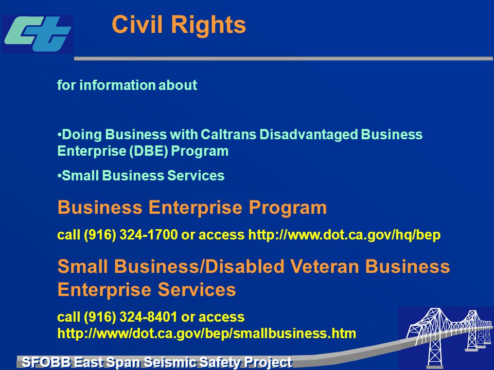 Civil Rights Business Enterprise Program