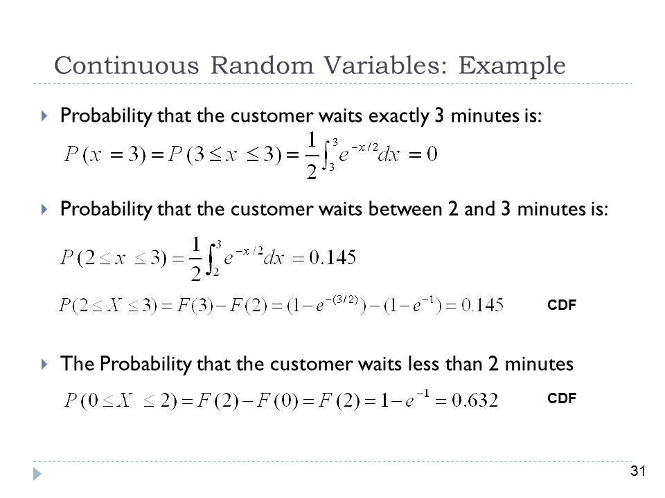 Continuous Random Variables: Example