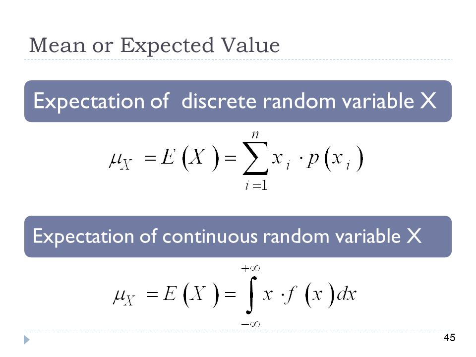Expectation of continuous random variable X
