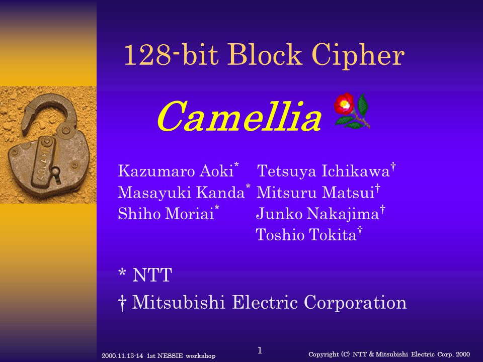 128-bit Block Cipher Camellia