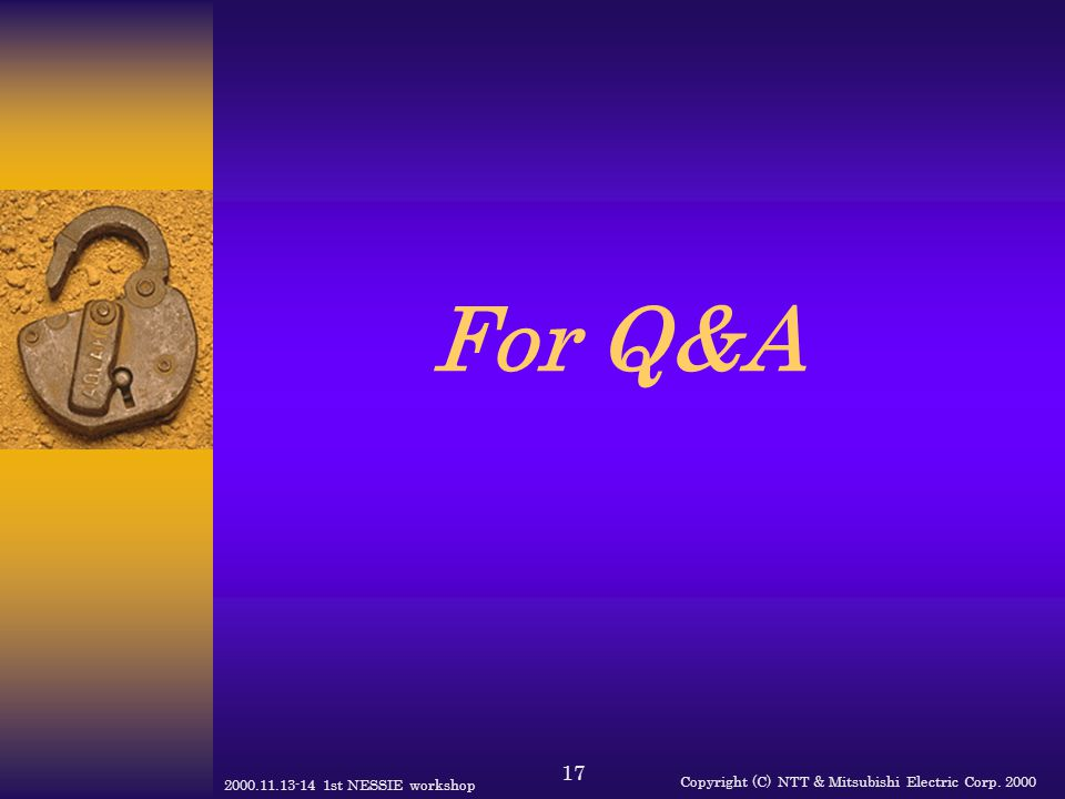 For Q&A