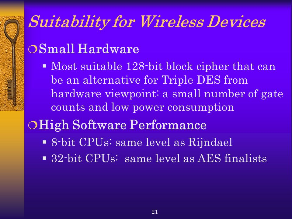 Suitability for Wireless Devices