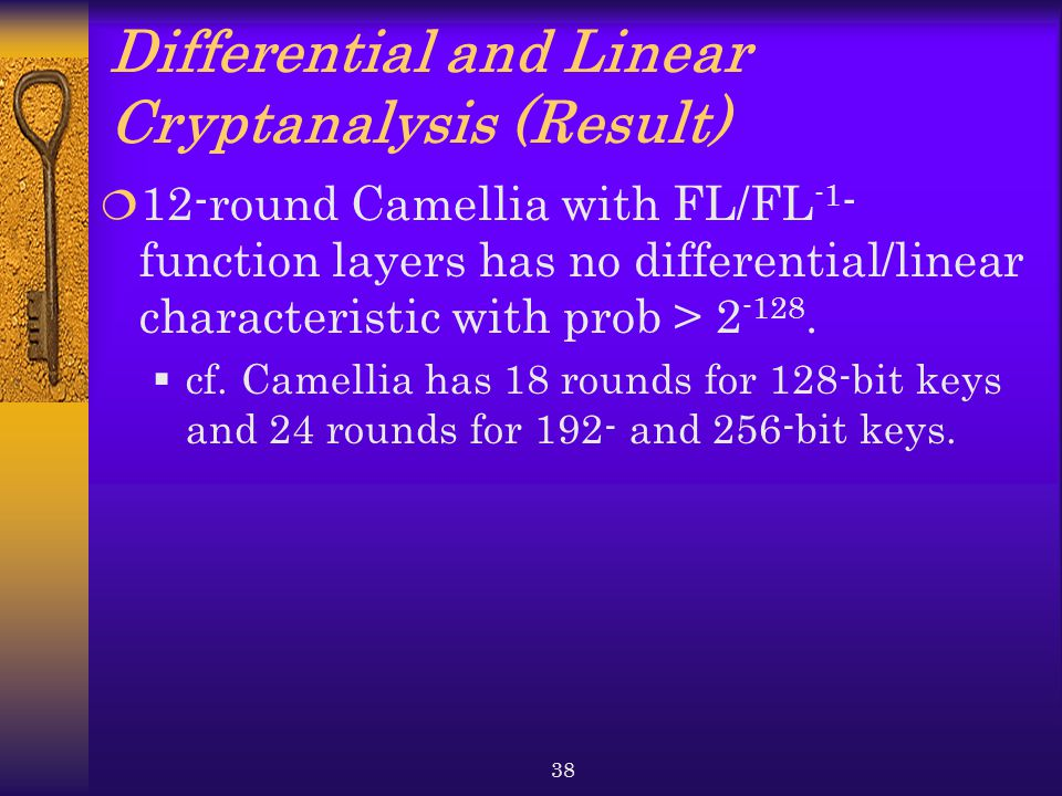 Differential and Linear Cryptanalysis (Result)