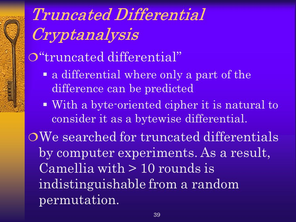 Truncated Differential Cryptanalysis