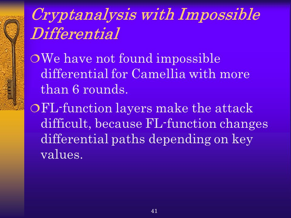 Cryptanalysis with Impossible Differential