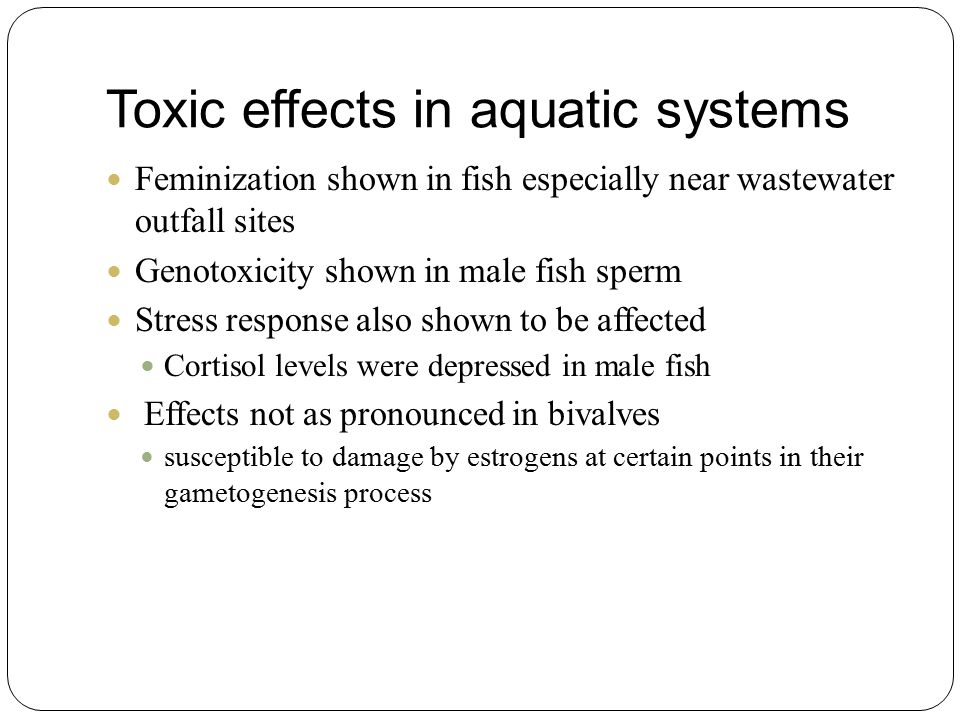 Toxic effects in aquatic systems